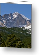 Colorado Mountains Greeting Cards - The Diamond on Longs Peak in Rocky Mountain National Park Colorado Greeting Card by Brendan Reals