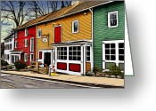 Ellicott Greeting Cards - The Diamondback Tavern of Ellicott City Greeting Card by Stephen Younts