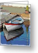 Lake Union Greeting Cards - The Dinghy Greeting Card by Tim Allen