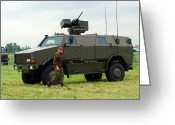 Belgian Army Greeting Cards - The Dingo Ii In Use By The Belgian Army Greeting Card by Luc De Jaeger