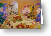 Leonard Filgate Painting Greeting Cards - The Dinner Party Greeting Card by Leonard Filgate