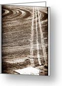 Baseball Art Greeting Cards - The Dirt Field Greeting Card by John Rizzuto