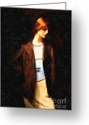High Fashion Greeting Cards - The Display Model Greeting Card by Wingsdomain Art and Photography