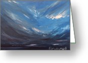 Abstract Sky Greeting Cards - The Distance Between Us Greeting Card by Paul Horton