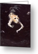 Cliff Painting Greeting Cards - The Diving Dog Greeting Card by Ethan Harris