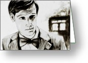Bowtie Drawings Greeting Cards - The Doctor Greeting Card by Peyton Hartwig