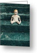 Neglected Greeting Cards - The Doll Greeting Card by Joana Kruse