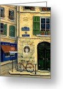 Bicycle Art Greeting Cards - The Doors Greeting Card by Marilyn Dunlap