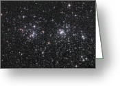 Starfield Greeting Cards - The Double Cluster, Ngc 884 And Ngc 869 Greeting Card by Robert Gendler