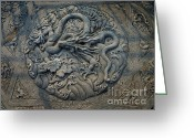 Forbidden City Greeting Cards - The Dragon II Greeting Card by Xueling Zou
