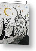 Ghostly Greeting Cards - The Dream Greeting Card by Mike Paget