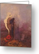 Redon Greeting Cards - The Dream  Greeting Card by Odilon Redon