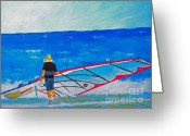 Wind Surfing Art Painting Greeting Cards - The Dreamer Disease I Greeting Card by Ralph Mantia Sr