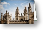 Steven Gray Greeting Cards - The Dreaming Spires Greeting Card by Steven Gray