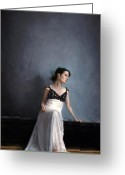 Grey Painting Greeting Cards - The Dress Greeting Card by Nicolas Martin