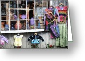 New England Digital Art Greeting Cards - The Dress Shop Greeting Card by Barry Bittinger