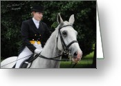 Dressage Photo Greeting Cards - The Dressage Performance Greeting Card by Terry Kirkland Cook