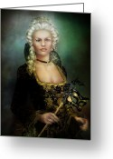 Royalty Digital Art Greeting Cards - The Duchess Greeting Card by Karen Koski