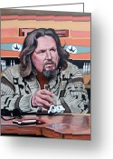 Alley Greeting Cards - The Dude Greeting Card by Tom Roderick