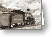 Steam Engine Greeting Cards - The Durango and Silverton into the Mountains Greeting Card by Mike McGlothlen