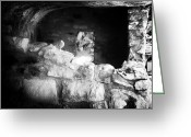 Cliff Dwellers Greeting Cards - The Dwelling in the Cliff Greeting Card by John Rizzuto