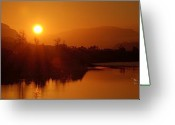Kamloops Greeting Cards - The Early Bird Greeting Card by Peter Olsen