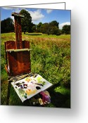 Easel Greeting Cards - The Easel Greeting Card by Jim  Calarese