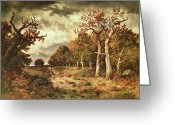Outskirts Greeting Cards - The Edge of the Forest Greeting Card by Narcisse Virgile Diaz de la Pena