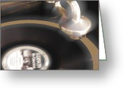 The Edison Record Player Greeting Cards - The Edison Record Player Greeting Card by Mike McGlothlen