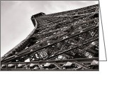 Paris Greeting Cards - The Eiffel Tower Greeting Card by Olivier Le Queinec