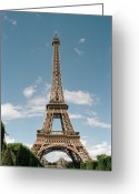 Ile De France Greeting Cards - The Eiffel Tower, Paris Greeting Card by Martin Diebel