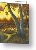 Forest Pastels Greeting Cards - The Elders Greeting Card by Garry McMichael