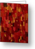 Abstract Greeting Cards - The Element of Fire Greeting Card by Mimulux patricia no
