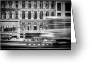 Train Greeting Cards - The Elevated Greeting Card by Scott Norris