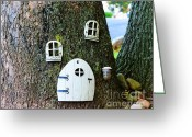 Fantasy Greeting Cards - The Elf House Greeting Card by Paul Ward
