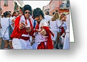 Skates Greeting Cards - The Elvis Sightings in New Orleans Greeting Card by Kathleen K Parker