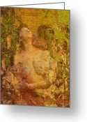 Lovers Embrace Greeting Cards - The embrace Greeting Card by Kurt Van Wagner