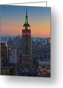 Sunset Image Greeting Cards - The Empire Still On Top Greeting Card by Proframe Photography