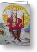 Sheild Greeting Cards - The Emporer Greeting Card by Carol Frances Arthur