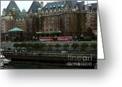 Seattle Greeting Cards Greeting Cards - The Empress Hotel Victoria British Columbia Canada Greeting Card by Glenna McRae