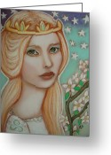 Guinevere Greeting Cards - The Empress Greeting Card by Tammy Mae Moon