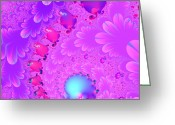 Mandelbrot Greeting Cards - The Enchanted Forest . Version 2 . Square . S8 Greeting Card by Wingsdomain Art and Photography