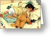 Barbara Painting Greeting Cards - The End - Andy and Bear-Bear Greeting Card by Barbara Jewell