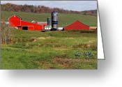 Amish Farms Greeting Cards - The End Of An Era Greeting Card by Lydia Warner Miller