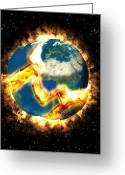 Judgement Day Greeting Cards - The End Of The World Greeting Card by Roger Harris