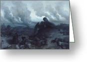 Devastation Greeting Cards - The Enigma Greeting Card by Gustave Dore