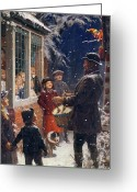 December Painting Greeting Cards - The Entertainer  Greeting Card by Percy Tarrant