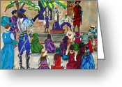 Conformist Greeting Cards - The Entertainers Greeting Card by Gail Daley