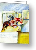 Horse Art Greeting Cards - The Equestrian Greeting Card by Tom Conway