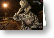 Tony Greeting Cards - The Essence Of The Streets Greeting Card by Tuan HollaBack